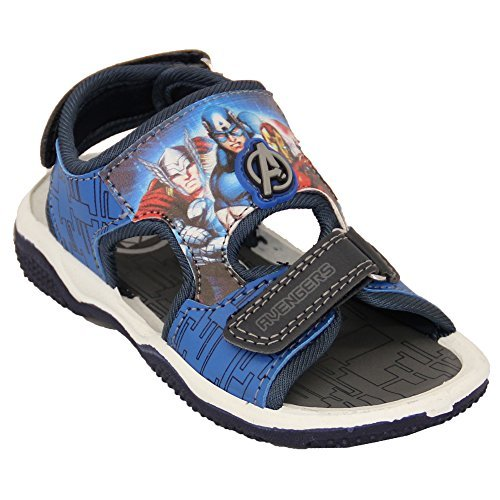 Garçons Vengeurs Storm Troopers Sandales Velcro Enfants Par Disney Star Wars Marvel - Marine - LYMINGTON, UK 8/EU 26 - Toddlers