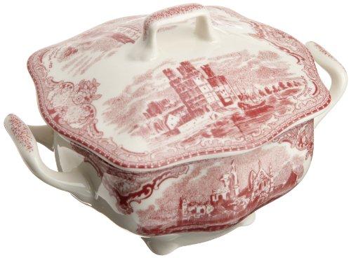 Johnson Brothers Old Britain Castles Pink Covered Sugar Bowl (Bowl Sugar Castle)
