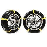 SEAMETAL Car Anti Slip Tire Chains Snow Chains Adjustable Anti-Skid Chains Car Tire Snow Chains Fits Most Car/SUV/Truck 10pcs Tire Width 185-295mm/7.2-11.6'' 【2018 NEW VERSION】