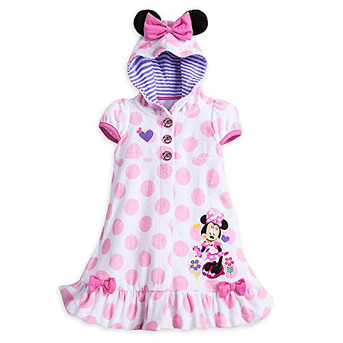 Swim Cover Up for Girls - Size 4 White (Minnie Mouse Cover)