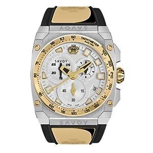 Savoy Icon Extreme - Chrono - Two-Tone Stainless Steel & Gold - Black Strap Men's Watch