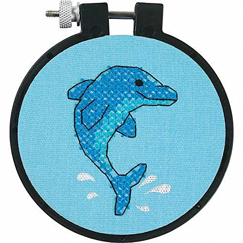 - Simplicity Vintage Dimensions Needlecrafts Stamped Cross Stitch, Dolphin Delight