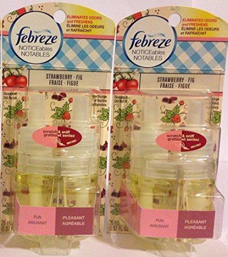 (Febreze Noticeables Scented Oil Refill - Strawberry Fig - Single Refill - Net Wt. 0.87 FL OZ (26 mL) Each - Pack of 2 Refills)