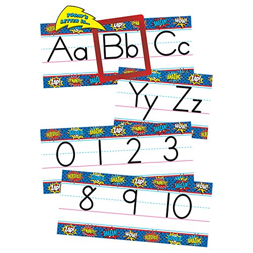 Teacher Created Resources Superhero Alphabet Line Bulletin Board -