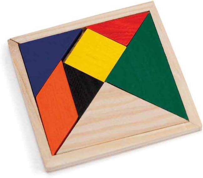 Lote 30 Puzzle Tangram para Desarrollo Mental, Rompecabezas de lógica, Juguetes educativos para niños. Detalles cumpleaños Infantiles, Guarderías, Escuelas y Colegios