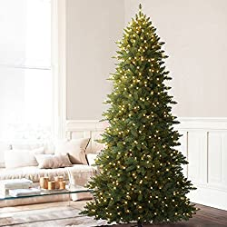 Balsam Hill Berkshire Mountain Fir Prelit Artificial Christmas Tree, 7.5 Feet, Clear Lights