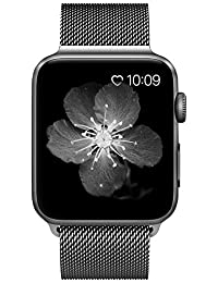 Apple Watch Strap Series 2 Series 1,Milanese Loop Magnetic Lock Stainless Steel Bracelet for Apple Watch Band Sport & Edition