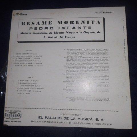 Pedro Infante, Besame Morenita Lp Vinyl