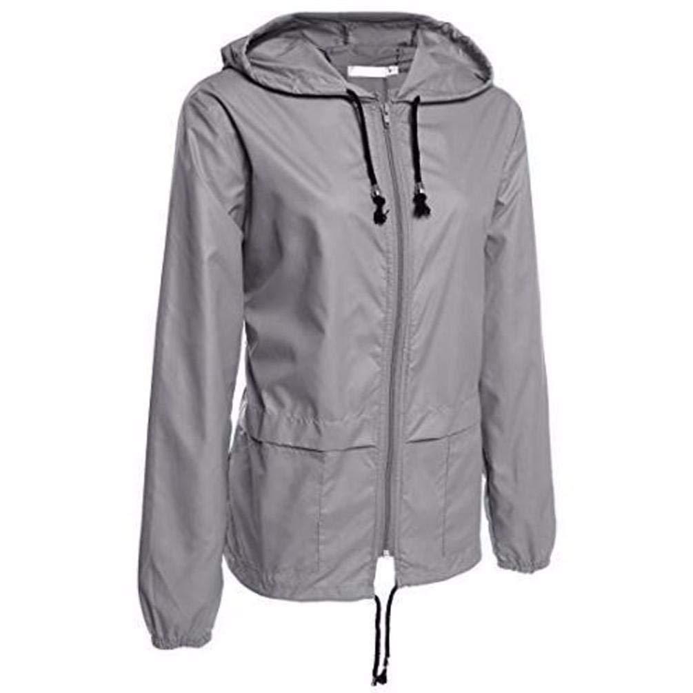 Pandaie Jacket,Women's Lightweight Rain Jacket Outdoor Packable Waterproof Hooded Raincoat