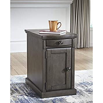 Ashley Furniture Signature Design – Laforn Chairside End Table – Gray