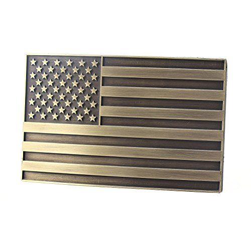 NPET Men's Vintage USA Flag Belt Buckle (Fit 1.5