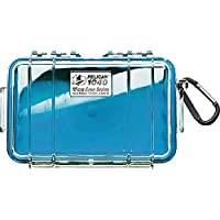 Waterproof Case | Pelican 1040 Micro Case - for iPhone, cell phone, GoPro, camera, and more (Blue/Clear)