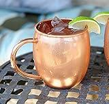 Copper Barrel Mug for Moscow Mules - 16 oz - 100% pure copper by ALCHEMADE - includes free E-Recipe Book