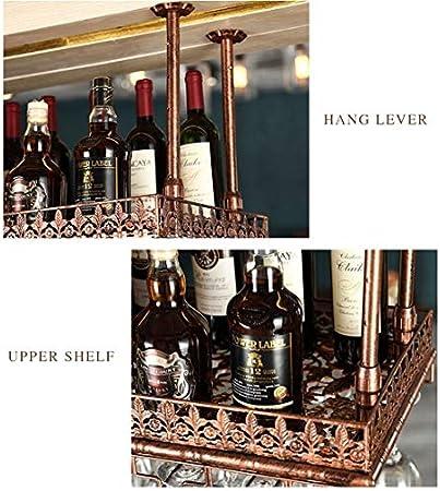 Estantería de vino Colgando rejilla for copas creativa botellero botellero botellero barra de barra de colgar boca abajo portavasos vino estante decorativo de la cocina, bar, restaurante estante de vi
