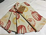 Harvest Collection Fall Pumpkin Thanksgiving Napkin Set of 4