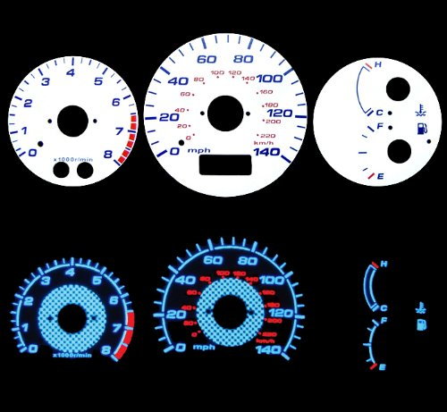 (White Glow Gauges for 99 00 01 02 03 Mazda Protege 5 /MP5 )