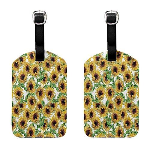 - Tag Holder Zip Sunflower Decor Collection,Dried Sunflowers Illustration Wildflowers Branch Herbarium Artistic Design Fine Art for men and women