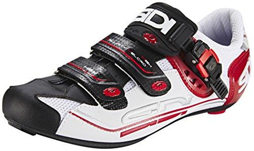 Sidi Genius 7 Fahrradschuhe Herren white/black/red Größe 45 2017 Mountainbike-Schuhe