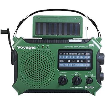 Kaito KA500GRN 5-Way Powered Emergency AM/FM/SW Weather Alert Radio, Green