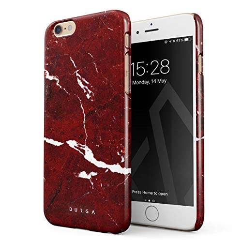 Ruby Red Phone - BURGA Phone Case Compatible with iPhone 6 / 6s, Iconic Ruby Red Marble Thin Design Durable Hard Plastic Protective Case