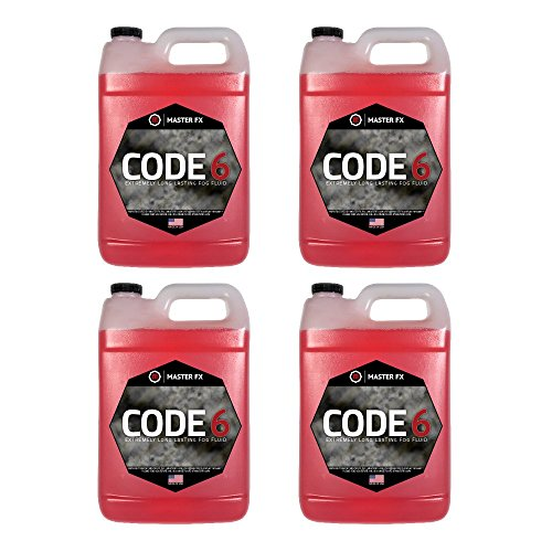 Master Fog - Code 6(TM) (Ridiculously Long Lasting Fog Juice Fluid) - 4 Gallon Case by Master FX, Inc.
