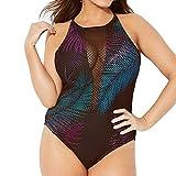 See-Through Bathing Suit Cover ups for Women Bikinis Jiayit Sexy Women One Piece Print Cross Back Swimsuit Push Up Padded Bikini Swimwear Beachwear