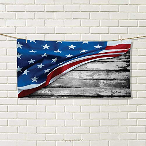 Chaneyhouse American Flag,Hand Towel,Close up Design Flag Ov