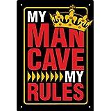 Aquarius Man Cave Rules Tin Sign