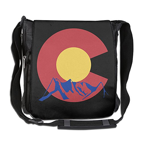 Mountain Of Colorado State Sports Polyester Shoulder Crossbody Messenger Bags (Colorado Rockies Messenger Bag)