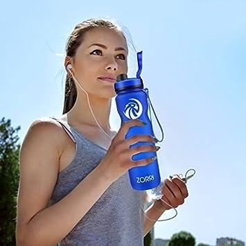 Umweltfreundlich Tritan ZORRI Trinkflasche Sport 20oz //28oz //32oz //1l //1.2 Liter BPA Frei Kinder Erwachsener Auslaufsicher L/ässig Trinkflaschen Nicht Edelstahl Glas Gym,Camping,Fahrrad Wasserflasche