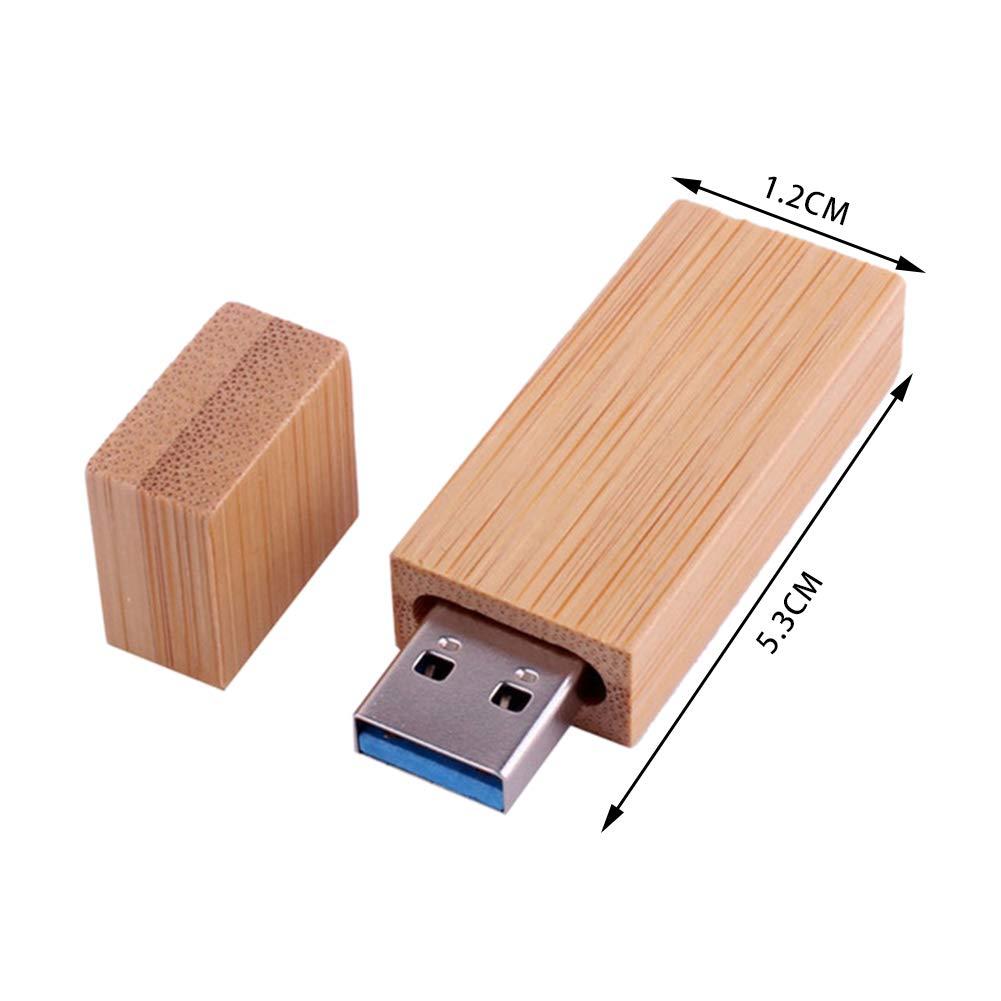 Pouybie Cl/é USB en Bois de caf/é 64 Go M/émoire Cl/é USB Haute Vitesse Stockage de donn/ées Cadeau Anti-Chute Friendly Cr/éatif avec Fermoir