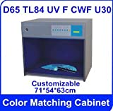 America standard Color Matching Cabinet 6 light sources: D65 TL84 UV F CWF U30 Size:715463cm Customizable Color Assessment