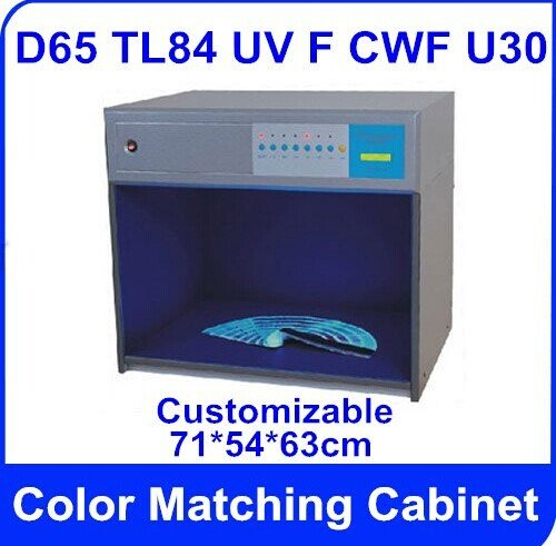 America standard Color Matching Cabinet 6 light sources: D65 TL84 UV F CWF U30 Size:715463cm Customizable Color Assessment by CGOLDENWALL