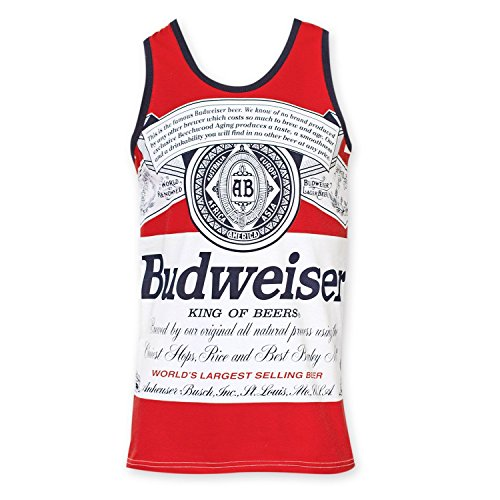 Budweiser Men's Retro Label Tank Top (Large)