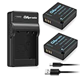 OAproda 2 Pack Replacement DMW-BLE9 Battery and Micro USB Battery Charger for Panasonic DMW-BLE9, DMW-BLG10, DMC-GF3, DMC-GF5, DMC-GF6, DMC-ZS60, DMC-ZS100, DMC-LX100, DMC-GX85 Digital Cameras