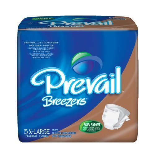 MCK41783100 - Adult Incontinent Brief Prevail Tab Closure X-Large Disposable Heavy Absorbency by First Quality