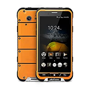 Ulefone ARMOR 4.7 Inch Android 6.0 Unlocked Smartphone - Waterproof Shockproof Dustproof MT6753 64Bit Octa core 1.3GHz 3GB RAM + 32GB ROM 13MP / 5MP Camera 4G Dual SIM Mobile Phone (Orange)
