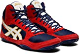 ASICS Men's Snapdown 2 Wrestling Shoes, Indigo Blue/White, 7 M US