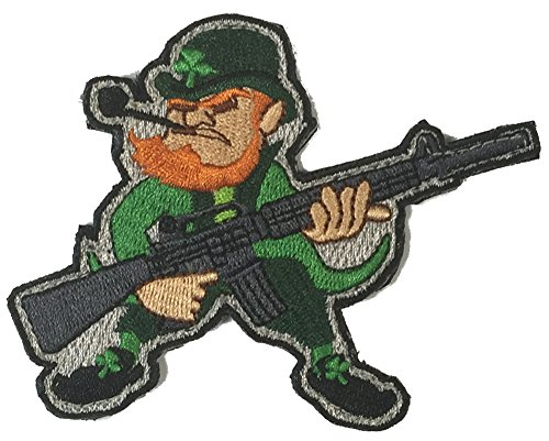 Evil Leprechaun AR-15 Tactical Morale Patch - Color (Funny Irish Leprechaun)