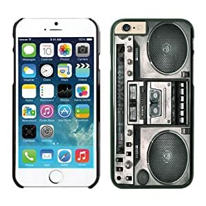 Cool TPU Black Iphone 6 Case 4.7 Inches Boombox Designs Durable Soft Phone Rubber Cover