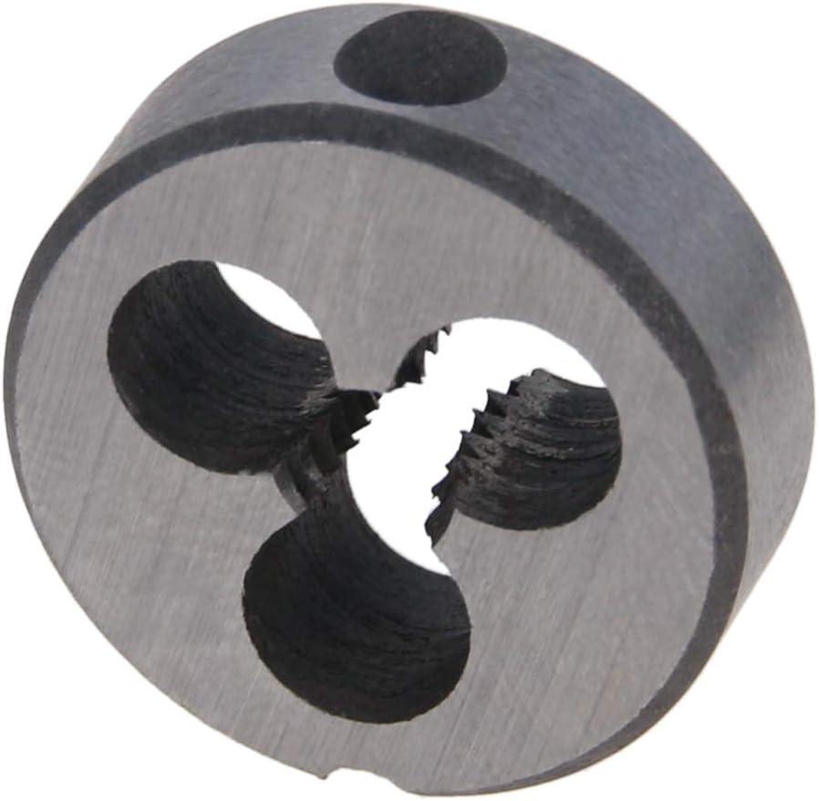 Utoolmart 1//4-20 Round Die Alloy Tool Steel 2pcs Machine Thread Right Hand Threading Die