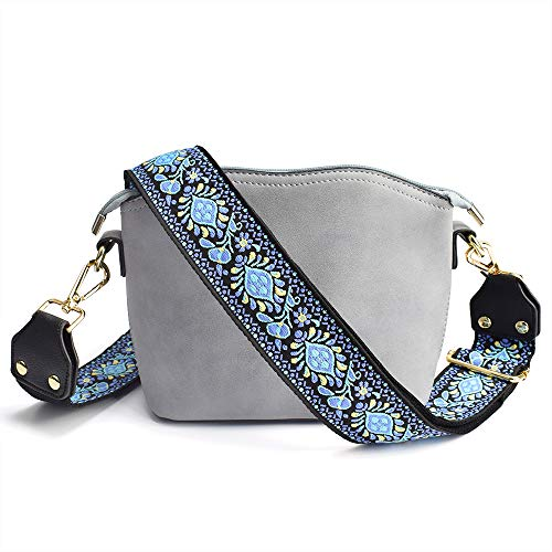 Bag/Purse Strap Replacement Crossbody Shoulder For Women Adjustable Jacquard Woven Cotton Guitar Strap Style