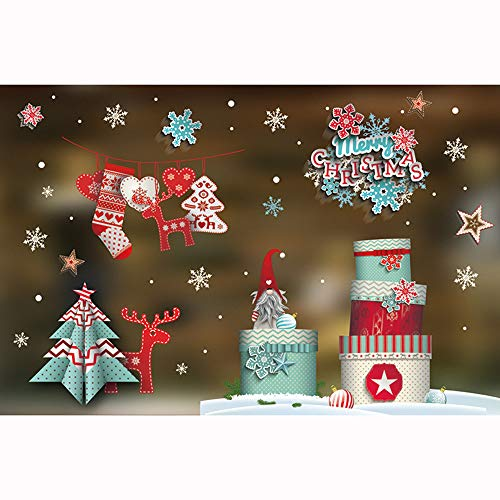 DIY pgojuni Christmas Creative Carving Can Remove Personality Wall Stickers Removable Wallpaper Home Decor 1PC (J) by Pgojuni_Wallpaper (Image #4)