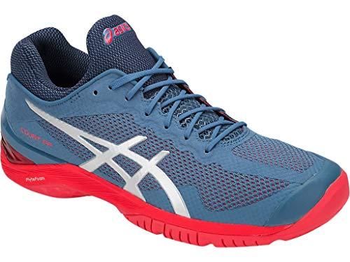 (ASICS Gel-Court FF Unisex Tennis Shoe, Azure/Silver, 10 M US)