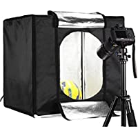 CRAPHY 24 Portable Photo Studio LED Light Tent Table Top Lightbox Softbox Shooting Kit, included 4 Paper Backdrop and Carry Bag