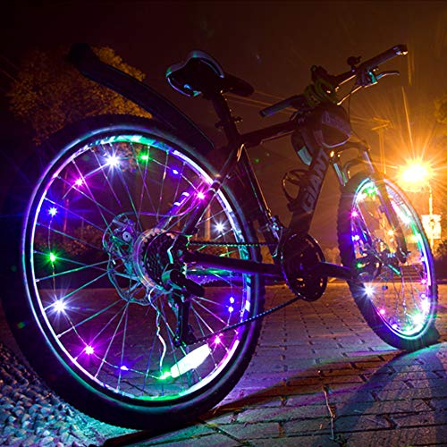 Led Bike Wheel Lights(2 Tire Pack Including Batteries),Bicycle Wheel Lights Super Colorful,Bright,Waterproof.3D Bicycle Spoke Led Lights is Good Gift for Cycling Accessories,Kids,Girls,Men,Parties.