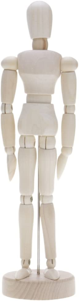 Humanos Figura Modelo,Base y Cuerpo Flexible VANKER Maniqu/í movible de Madera Ajustables 11.4cm