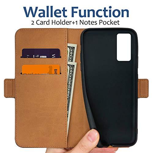 Pinzoveno Custodia per Samsung S20 FE, Cover a Libro per Galaxy S20 FE, Flip Case in Pelle PU Magnetica Portafoglio per Samsung Galaxy S20 FE 6,5 Pollici Blu
