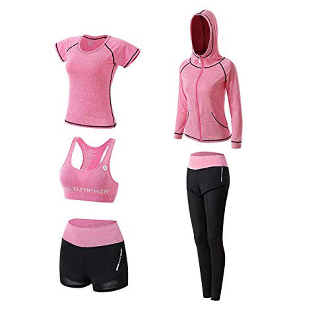 V/êtements de Yoga Costumes Gym Running /à s/échage Rapide Costumes Sportifs pour Dames V/êtements de Sport V/êtements de Fitness Cinq Ensemble