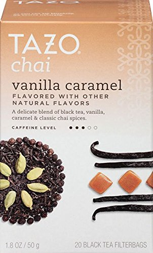 Vanilla Dessert - Tazo Chai Vanilla Caramel 20 Black Tea Filter Bags (Pack of 2)